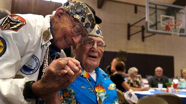 Pearl Harbor survivors Stu Hedley and Clayton Schenkelberg come together as friends.