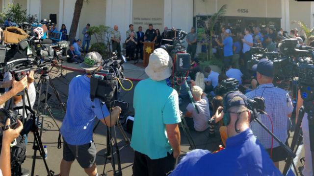 Officials brief the press in Santa Barbara