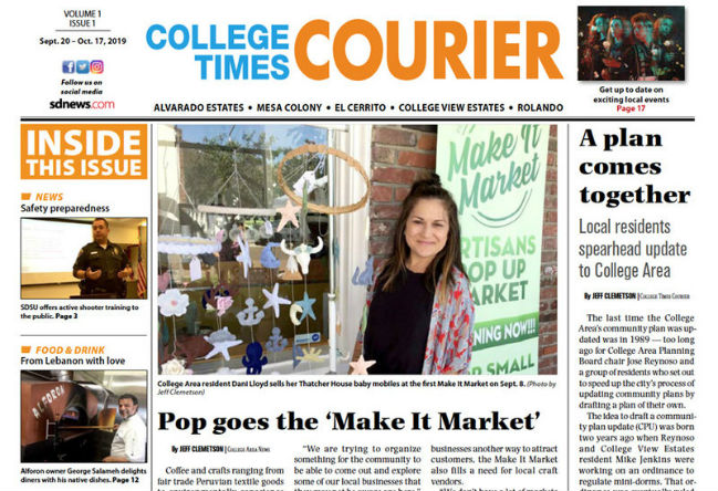 Front page of College Times Courier