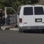 Police examine stolen truck
