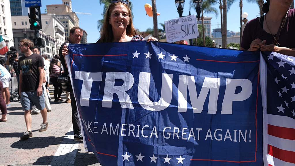 Renee Lotta was very pleased President Donald Trump came to San Diego