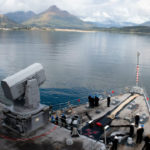 USS Comstock arrives in Kodiak