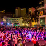 Crowd at 2017 Halloween bash downtown