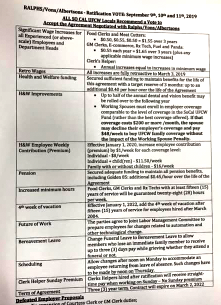 Fact sheet on contract terms given to UFCW workers. (PDF)