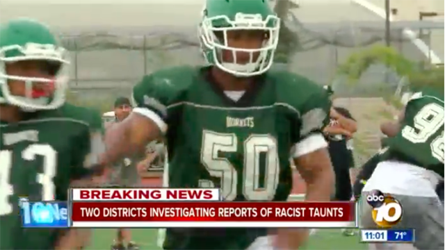 Cheerleaders for the Lincoln High School football team are said to have been targets of taunts.