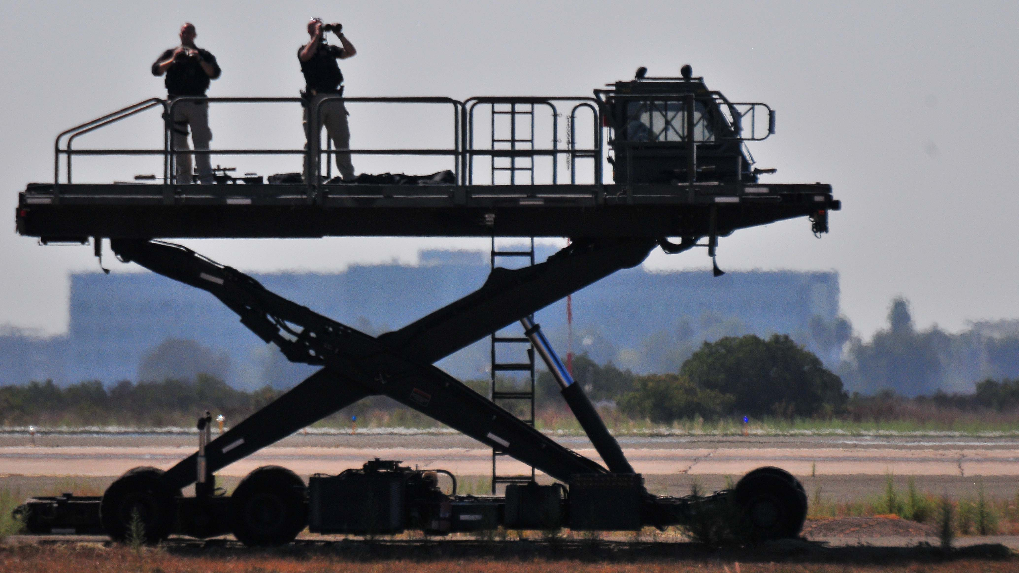 Elevated platform offered security a high vantage point at Miramar base.
