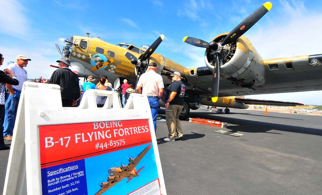 People were allowed to tour and fly in the plane in May at the McClellan-Palomar Airport in Carlsbad.