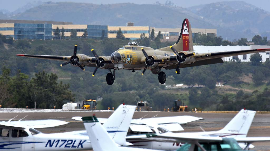 The B-17 Flying Fortress landed at Carlsbad's McClellan-Palomar Airport as part of the Wings of Freedom tour in May.
