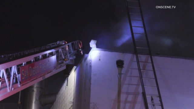 Firefighters battle blaze in Barrio Logan