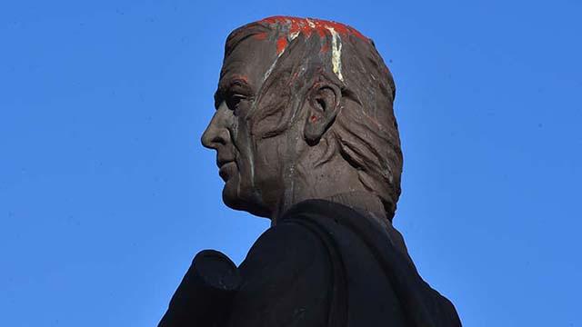 Columbus-Statue mutwillig Zerstört Wieder als Chula Vista Erwägt Takedown Nachfrage