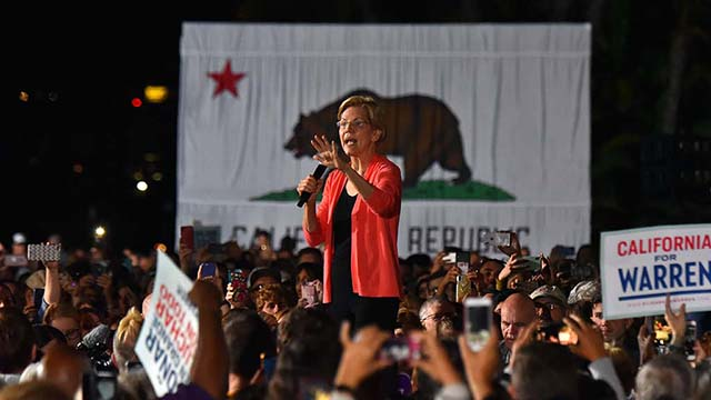 """Sen. Elizabeth Warren said citizens would decide in 2020 that elections matter and every person says: """"I'm off the sidelines and ready to get into the fight."""""""