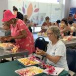 Flower-arranging class for seniors
