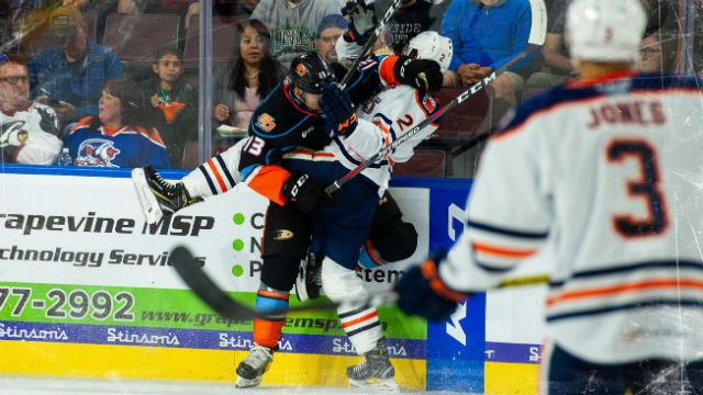 Action on the ice Friday night in Bakersfield