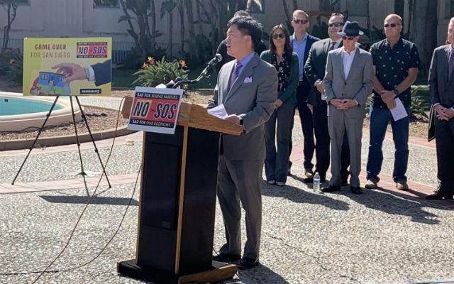 Haney Hong speaks against the measure