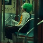 Joker on a subway train