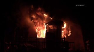 Home burns in Logan Heights