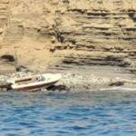 Abandoned marijuana smuggling boat