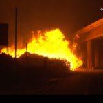 Fire burns near Golden State Freeway