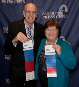 Ken and Chris Stone of Times of San Diego won 23 awards, including several they shared.