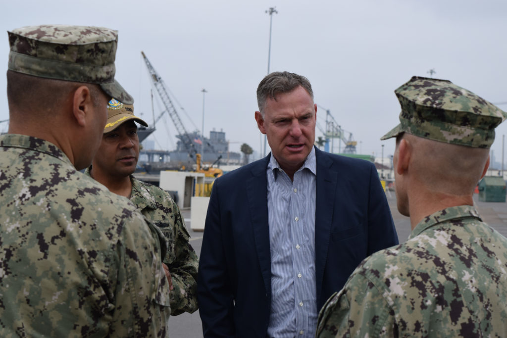 Democratic Rep. Scott Peters visits the Littoral Combat Ship Training Facility at Naval Base San Diego in May 2018. (Courtesy of Rep. Scott Peters)