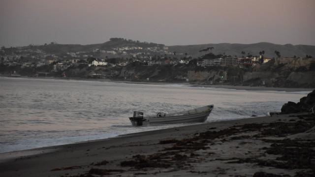 Smuggling boat on beach in La Jolla