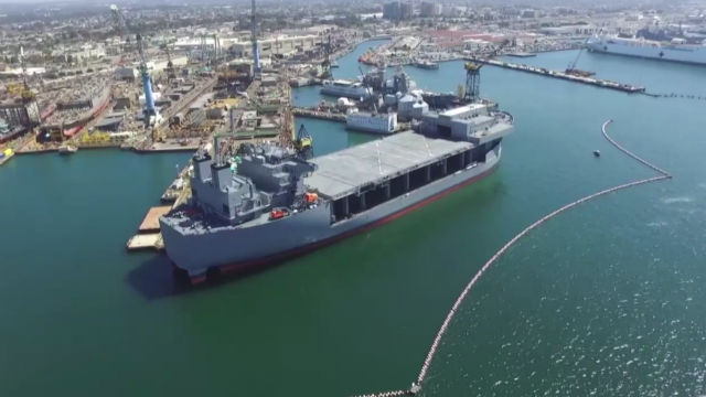 Future USNS Miguel Keith docked at NASSCO
