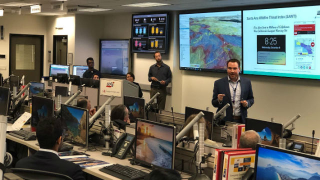 SDG&E's wildfire operations center