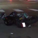 Wreckage of the motorcycle