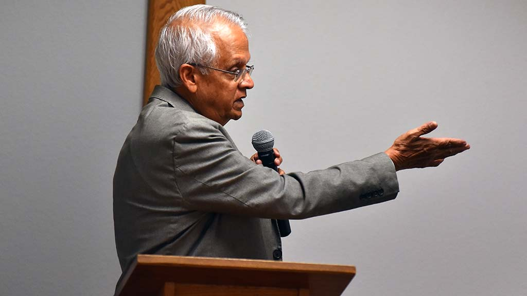 Veerabhadran Ramanathan said 2 trillion tons of carbon dioxide have entered the atmosphere since 1750.