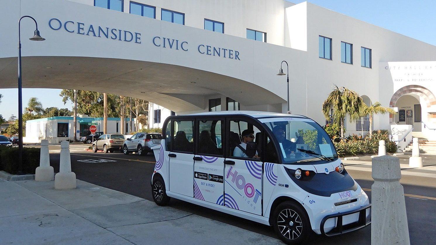 Oceanside, Hoot Fahrten Starten Downtown Shuttle Service Pilot-Programm