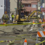 San Diego fire-rescue crews deal with natural gas leak in Mission Beach.