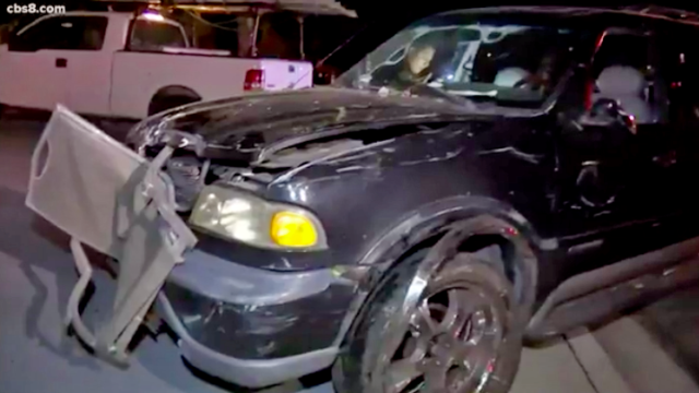 SUV driven by suspected drunken driver crashed onto Otay Mesa home.