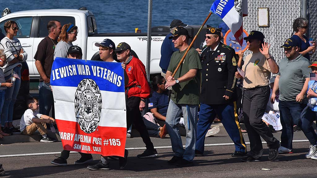 Local members of the Jewish War Veterans of the USA, the longest running veterans service organization, took part in Monday's parade.