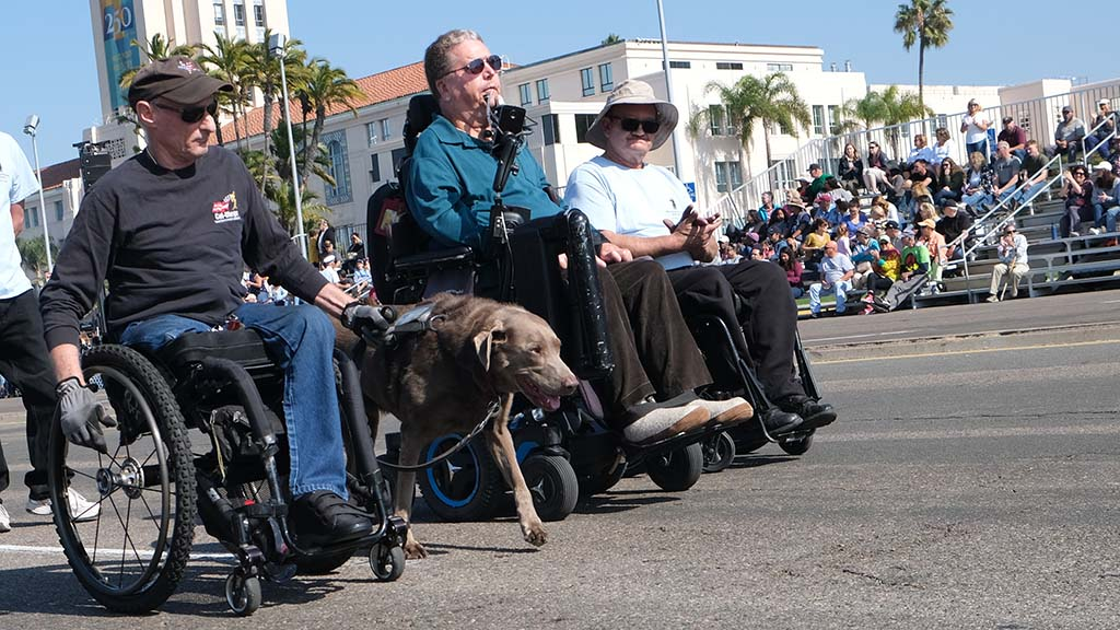Members of the Ca-San Diego chapter of Paralyzed Veterans of America participated in Sunday's Veterans Day parade.