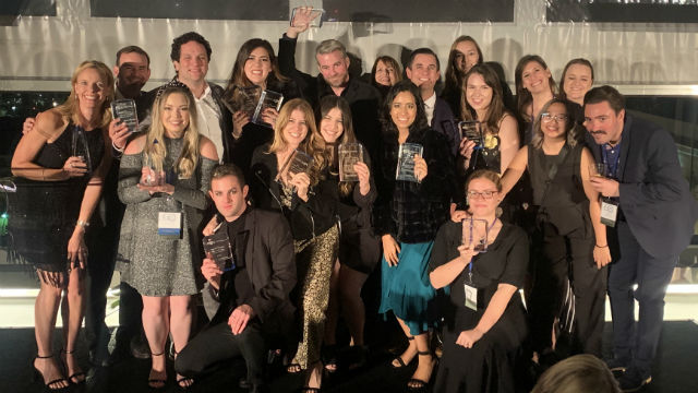 Canale Communications team celebrates their awards