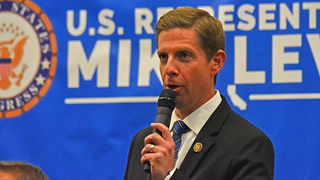 """Rep. Mike Levin said: """"Campaign finance reform is the overarching issue that impacts all of (the others)."""""""