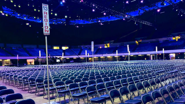 Chairs on the convention floor