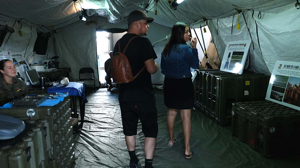 Visitors to the Fleet Week display at Broadway Pier got a look at military medical facilities.
