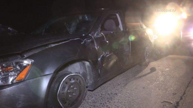 Car that crashed on Interstate 805