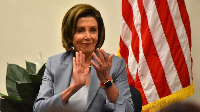 "Speaker Nancy Pelosi, applauding a comment by Rep. Mike Levin, said she asks her GOP House colleagues: ""What are you going to say when you go to see our Founders in heaven? 'I did everything I could possibly do to suppress the vote'?"""