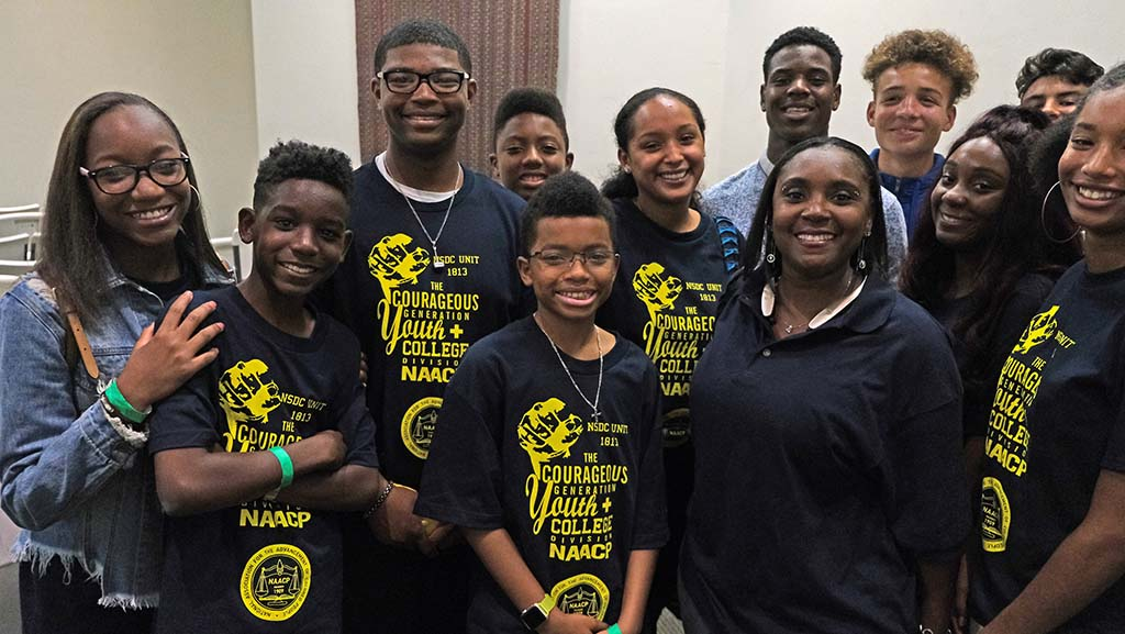 Members of the North County NAACP Youth Council were invited to attend the Nancy Pelosi event in hopes of spreading the word on H.R. 1.