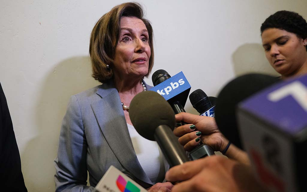 Before meeting the press, House Speaker Nancy Pelosi said reducing the role of money in politics would increase the optimism and hope of people.