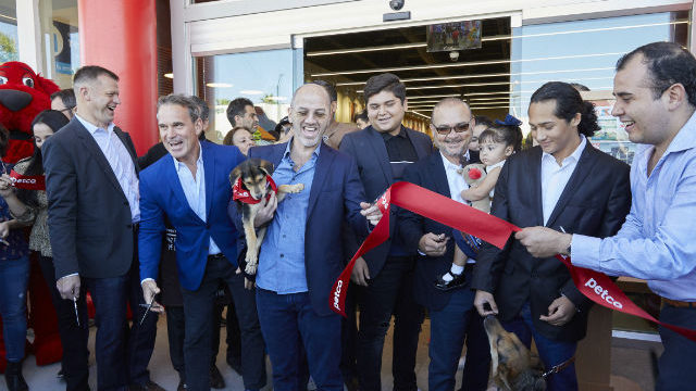 Grand opening ceremony for new pet store