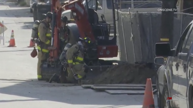 Fire fighters investigate gas leak in City Heights.