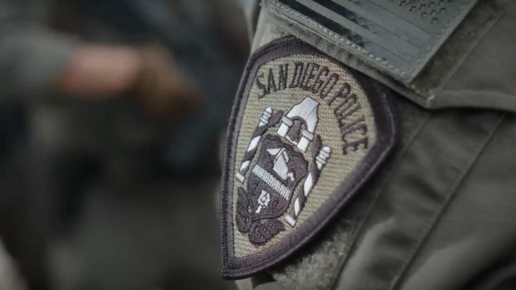 San Diego police patch.