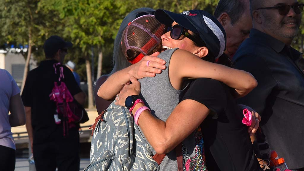 There was an abundance of hugs at the finish line of the San Diego Susan G. Komen 3-Day Breast Cancer Walk.