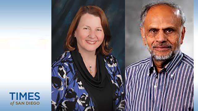 UC San Diego professors Pamela Mellon and Aleem Siddiqui.