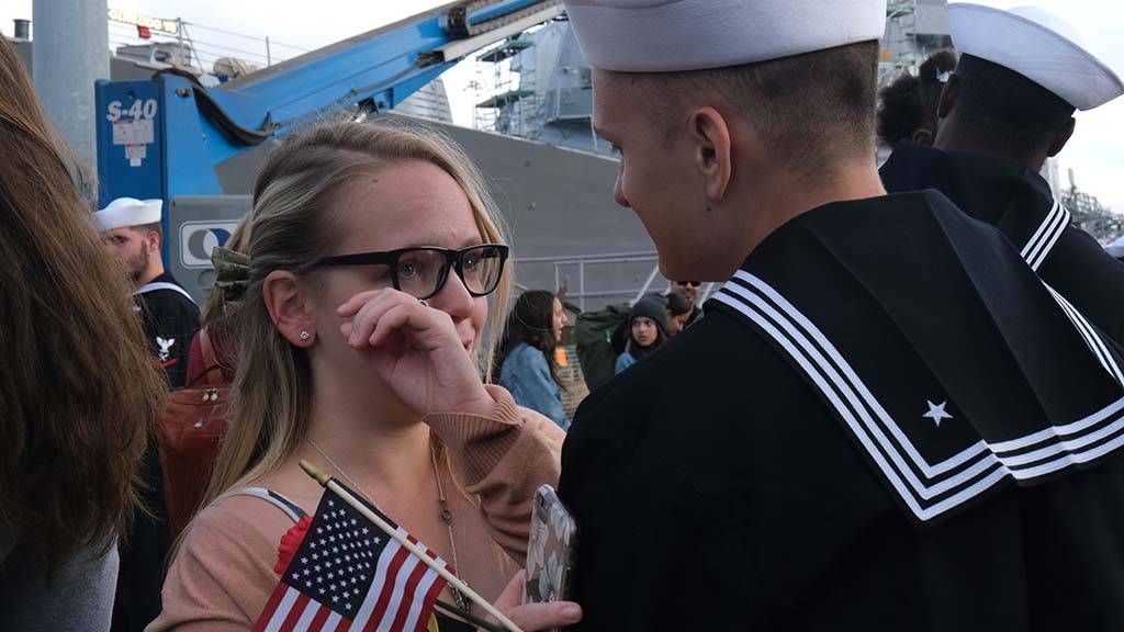 The return of the USS Boxer sailors brought tears of joy to many friends and family members.
