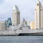 USS Cincinnati passes downtown San Diego skyline