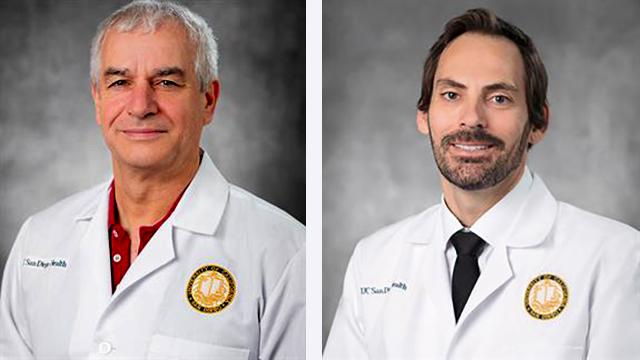 UCSD Health Drs. Frederic Kolb (left) and Christopher Reid, plastic surgeons.